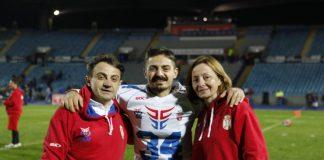 Filip Vlajić sa porodicom
